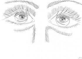 1820_Christina_Kruesi_Art_Eye_in_Eye_3_2013_Pencil_21x30cm