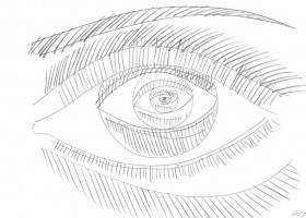 1821_Christina_Kruesi_Art_Eye_in_Eye_3_2013_Pencil_21x30cm