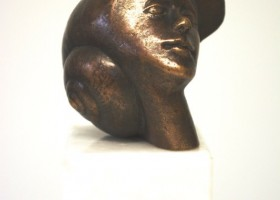 1320_Christina_Kruesi_Art_Coming_Out_2009_Bronze_12x10x9cm