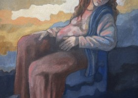 0327_Christina_Kruesi_Art_Mother_1996_Oil_on Board_60x70cm