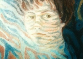 0248_Christina_Kruesi_Art_Self_Portrait_1995_Oil_Pastels_50x70cm