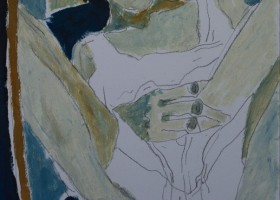 0251_Christina_Kruesi_Art_Self_Portrait_10_1995_Oil_on_Paper_30x40cm