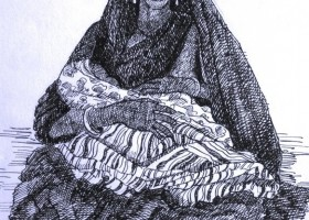 0124_Christina_Kruesi_Art_Mother_Child_3_1993_Pen_16x20cm