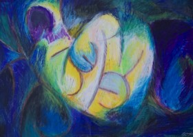 0009_Christina_Kruesi_Art_Night_Light_1986_Oil_Pastels_40x30cm