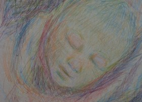 0018_Christina_Kruesi_Art_Baby_1987_Colored_Pencil_29x39cm